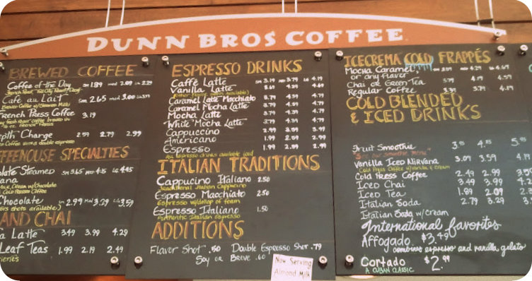 Good Eats Dunn Bros Coffee Naturale Chronicles