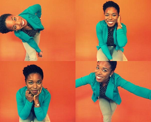 happy orange collage